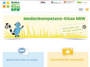 Website Medienkompetenz Kitas NRW