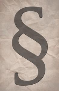 Paragraphenzeichen (Symbolphoto)