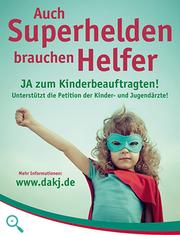 Petition für einen Kinderbeauftragten im Deutschen Bundestag (Plakat)
